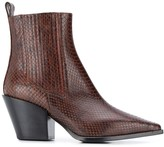 Aeyde Kate snakeskin effect boots