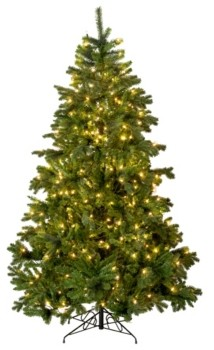 Perfect Holiday 7' Prelit Calgary Spruce Christmas Tree with 350 Led Lights