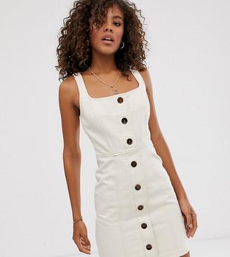 Asos Tall ASOS DESIGN Tall denim mini dress with buttons