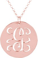 14K Rose-Plated Sterling Personalized Initial Script Pendant