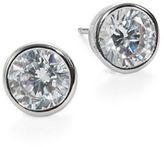 Crislu Cubic Zirconia and Sterling Silver Stud Earrings