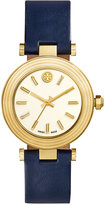 Tory Burch Women's Swiss Classic T Navy Leather Strap Watch 36mm TRB9001