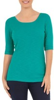 Time and Tru Women's Elbow Sleeve Scoop Neck T-Shirt