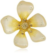"""Betsey Johnson Spring Pins"""" Yellow Flower Brooch and Pins"""