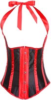 Anvoro Women's Striped Halter Lace Up Steel Boned Corsets Top Waist Cincher