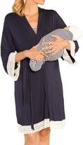 Angel Maternity Nursing Dress, Robe & Baby Blanket Set