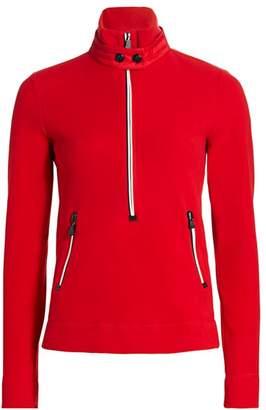 Moncler Three-Quarter Zip Fleece Insulator Sweater