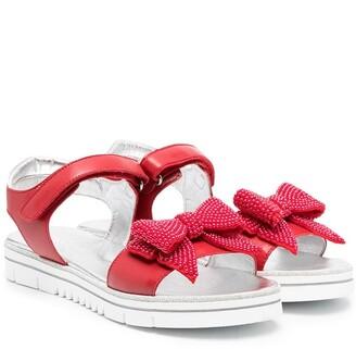 MonnaLisa TEEN beaded bow sandals