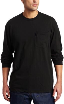 Key Men's Big & Tall Heavyweight Long Sleeve Pocket T-Shirt