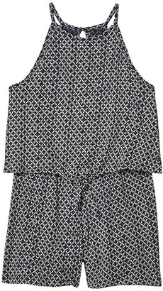 Roxy Kids Cocktail Party Strappy Romper (Little Kids/Big Kids) (Mood Indigo Katagami) Girl's Dress