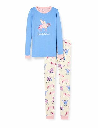 Hatley Girl's Organic Cotton Long Sleeve Applique Pyjama Sets