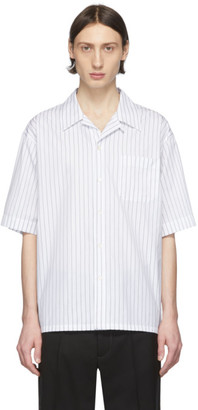 Marni White Poplin Striped Shirt