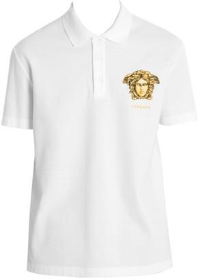 Versace Logo Short-Sleeve Polo