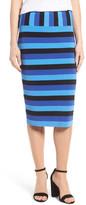 Halogen Stripe Pencil Skirt (Petite)