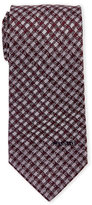 Missoni Purple Square Pattern Silk Tie