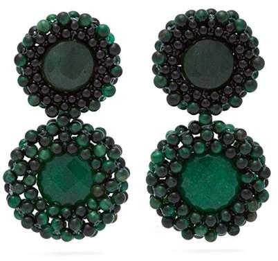 Rosantica By Michela Panero - Carramato Drop Earrings - Womens - Green