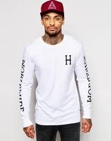 Huf Huf Lager Long Sleeve T-shirt - White