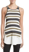 Derek Lam 10 Crosby Women's Layered Hem Cotton Tank