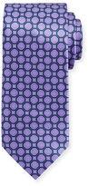 Brioni Octagon-Print Silk Tie