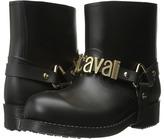 Just Cavalli Rubber Rain Boot w/ Sliding Logo Women's Rain Boots