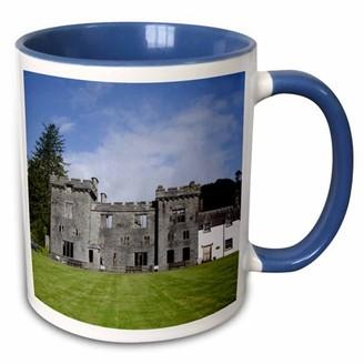 3drose 3dRose Scotland, Isle of Skye, Clan Donald house - EU36 CMI0391 - Cindy Miller Hopkins - Two Tone Blue Mug, 11-ounce