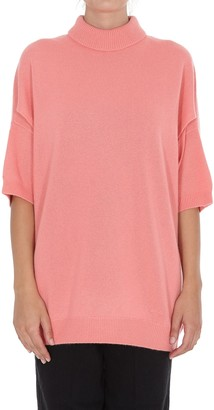 Givenchy High-Neck Cropped Sleeve Jumper