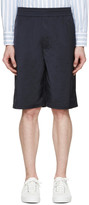Neil Barrett Navy Matte Shorts