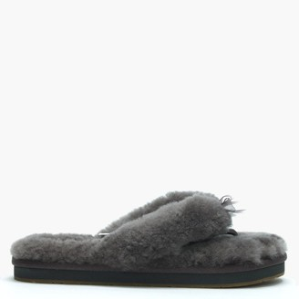 UGG Fluff Flip II Grey Slippers