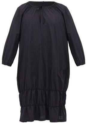 COMME DES GARÇONS GIRL Ruched-hem Poplin Dress - Navy