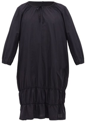 Comme des Garcons Ruched-hem Poplin Dress - Womens - Navy