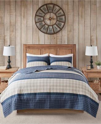 Woolrich Flagship King/California King 3 Piece Reversible Cotton Oversized Quilt Mini Set Bedding