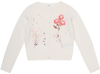 Bonpoint Embroidered wool-blend cardigan