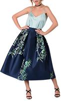 Closet Pleated Midi Skirt, Navy