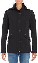 Weatherproof Hooded Snap Button Jacket