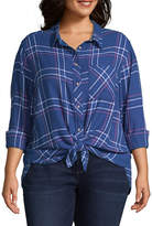Arizona Long Sleeve Shirt-Juniors Plus