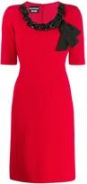 Moschino chain neckline dress
