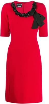Boutique Moschino Chain Neckline Dress