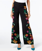INC International Concepts Petite Printed Wide-Leg Pants, Created for Macy's