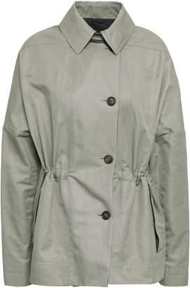 Brunello Cucinelli Knit-paneled Cotton And Ramie-blend Jacket