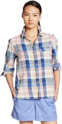 G Star Raw Women's Tacoma One Pocket Long Sleeve Bf Shirt in Indigo Sterling