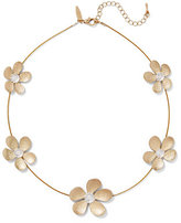 New York & Co. Sparkling Floral Station Necklace