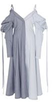 J.W.Anderson Patchwork Off-The-Shoulder Dress