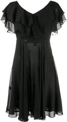 Liu Jo Ruffle Flared Mini Dress