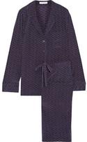 Equipment Avery Polka-Dot Washed-Silk Pajama Set