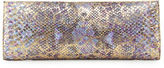 Nancy Gonzalez Metallic Python Razor Clutch Bag