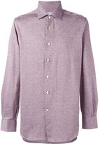 Kiton jacquard button down shirt