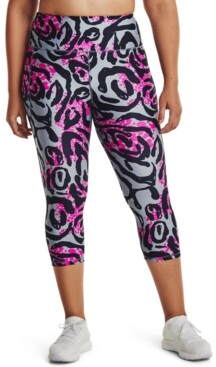 Under Armour Plus Size Women's Printed HeatGear Capri Pants