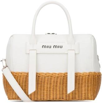 Miu Miu Double Handle Tote Bag