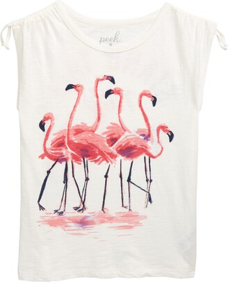 Peek Aren't You Curious Flamingo Graphic Tee