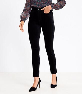 LOFT Tall High Rise Skinny Velvet Pants